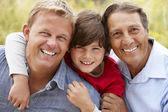 3 generations Hispanic men — Foto de Stock