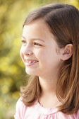 Portrét hispánský dívka venku — Stock fotografie