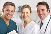 Portrait medical team on hospital ward — Stock Photo