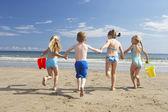 Children on beach vacation — Stok fotoğraf