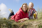 Mother and daughter outdoors — Stock Photo