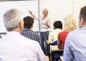 Starszy nauczyciel nauczania klasa — Zdjęcie stockowe