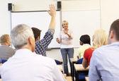 Clase docente tutor senior — Foto de Stock