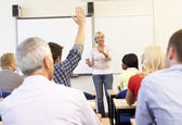 Senior tutor teaching class — Foto Stock