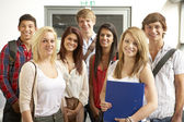 Students in college — Stock Photo