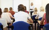 Schüler und lehrer in klasse — Stockfoto