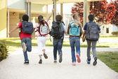 φορά των μαθητών στο σπίτι — Stockfoto