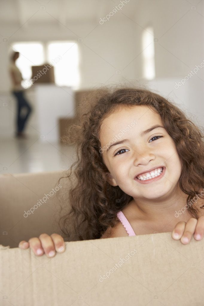 Little girl in new home — Stock Photo #11883564