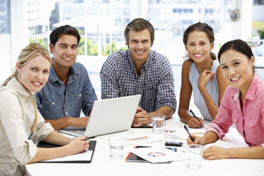 Mixed group in business meeting stock photo 169 monkeybusiness