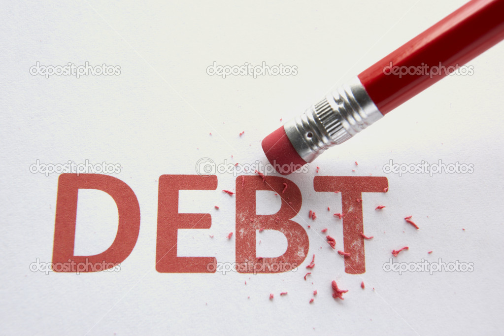 Wiping out debt — Stock Photo #11886974