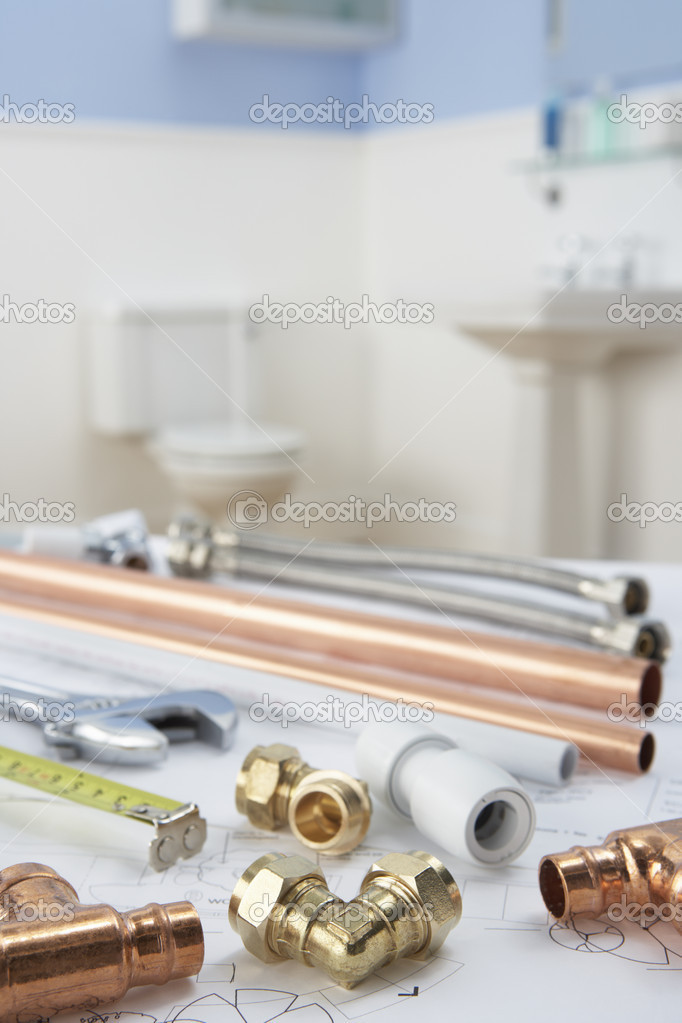 Plumbing tools and materials — Stock Photo #11887243