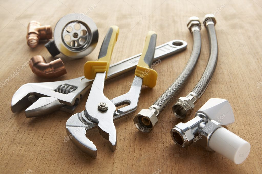 Plumbing tools and materials — Stock Photo #11887319