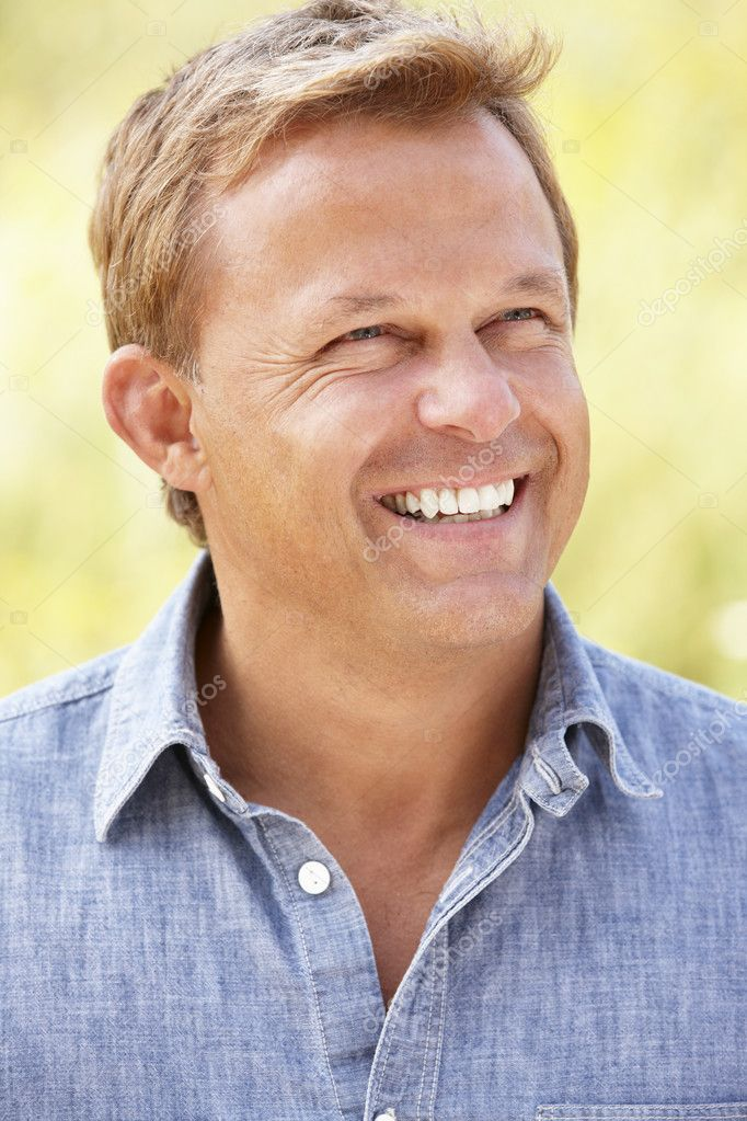 Portrait caucasian man outdoors  Stock Photo #11887493