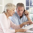 Retired couple with household bills — Stock Photo #11890164