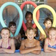 Stock Photo: Children in swimming pool