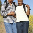 Foto Stock: Senior couple on country hike