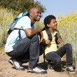 Father and son on country hike — Stock Photo #11890441