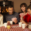 Group Of Middle Aged Couples Playing Cards Together — Stock Photo