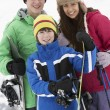 Royalty-Free Stock Photo: Group Of Children On Ski Holiday In Mountains