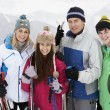 Royalty-Free Stock Photo: Family On Ski Holiday In Mountains