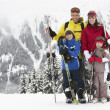 Family On Ski Holiday In Mountains — Stok Fotoğraf #11891864