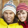 Middle Aged Couple Dressed For Cold Weather — Photo