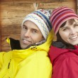 Middle Aged Couple Dressed For Cold Weather - Foto Stock