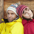 Middle Aged Couple Dressed For Cold Weather - Foto de Stock
