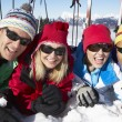 Group Of Middle Aged Couples On Ski Holiday In Mountains — Stock Photo #11892492