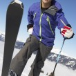 Male Skier Cross Country Skier — Foto Stock