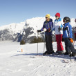 Family On Ski Holiday In Mountains — Stock Photo #11892553
