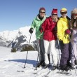 Teenage Family On Ski Holiday In Mountains — Stock Photo #11892590