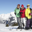 Teenage Family On Ski Holiday In Mountains — Foto de Stock