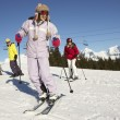 Teenage Family On Ski Holiday In Mountains — Stock Photo #11892627