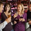 Group Of Friends Enjoying Drink Together In Bar — Stock Photo #11893549