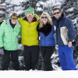 Group Of Young Friends On Ski Holiday In Mountains — Stock Photo #11893838