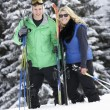Young Couple On Ski Holiday In Mountains - Zdjęcie stockowe