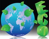 Ekolojik kavramsal çizimi — Stok Vektör