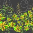 Background with flowers — Imagen vectorial