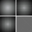 Set of metal background — Stockvektor