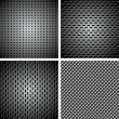 Set of metal background — Vektorgrafik