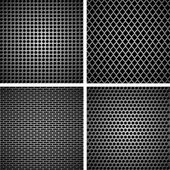 A set of metal grille — Stock Vector