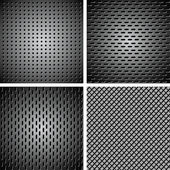 Set of metal background — Stock Vector