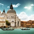 Grand Canal and Basilica Santa Maria della Salute, Venice, Italy — Stock Photo #12161376