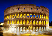The Colosseum at night, Rome, Italy — Stockfoto