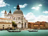 Grand Canal and Basilica Santa Maria della Salute, Venice, Italy — Photo
