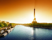 Seine in Paris with Eiffel tower — ストック写真