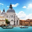 Grand Canal and BasilicSantMaridellSalute, Venice, Italy — Stock Photo #12272494