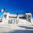 Equestrian monument to Victor Emmanuel II near Vittoriano in Rom — Stock Photo #12272646