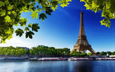 Seine in Paris with Eiffel tower — Stock fotografie